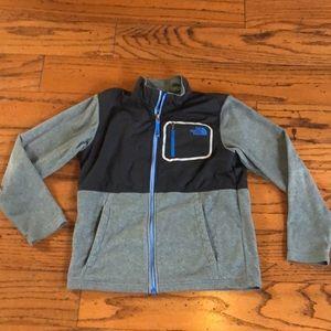 The North Face Black & Grey fleece jacket 10/12